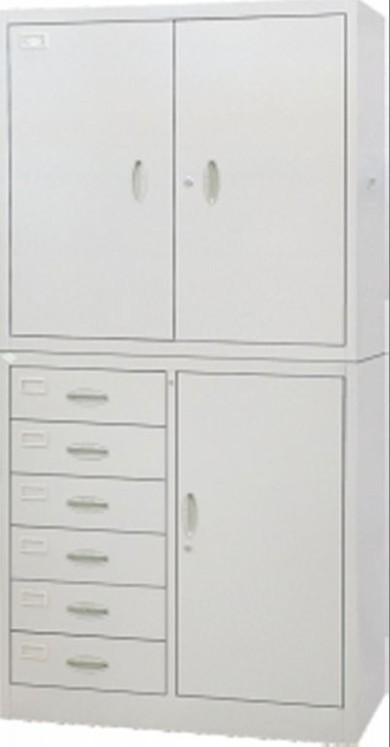 偏六屉双节柜  办公文件柜  铁皮文件柜
