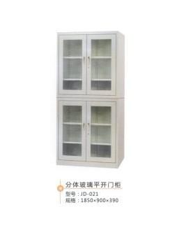 分体玻璃平开门柜 办公文件柜 铁皮柜