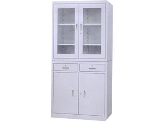 二屉平开门柜 办公文件柜 铁皮文件柜