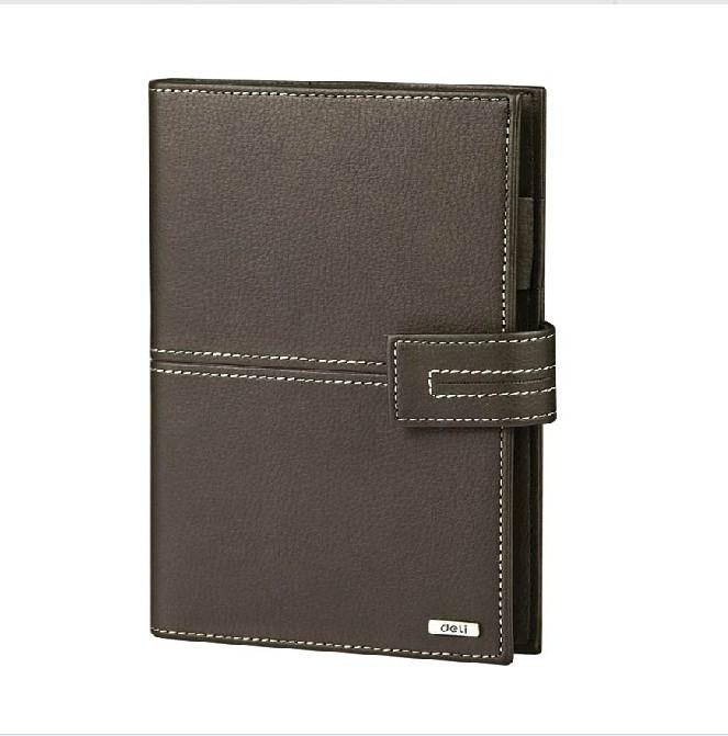 得力3158活页皮面本 A5记事本笔记本 日记本皮面抄万用手册