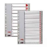易达胶质分类索引#47105/100106   数字塑料分页纸  十二页分页纸