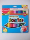 Maped马培德24色水溶性彩色铅笔 AA836013 ×12个