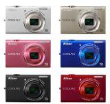 尼康(Nikon) COOLPIX S6200 便携数码相机 银色(1602万像素 2.7寸屏 10倍光变 25mm广角 滤镜)