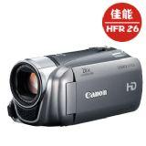 佳能(Canon) LEGRIA HF R26 双闪存数码摄像机 银色(207万像素 20倍光学变焦 闪存式 3.0寸液晶屏)