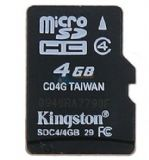 金士顿(Kingston)4G class4 TF(microSD)存储卡(SDC4/4GBSP)