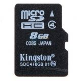金士顿(Kingston)8G class4 TF(micro SD)存储卡(SDC4/8GBSP)